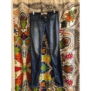 HOLLISTER blue wash stretch skinny leg jeans denim